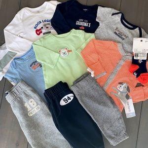 Baby Boy 11 Piece Outfit Bundle Set